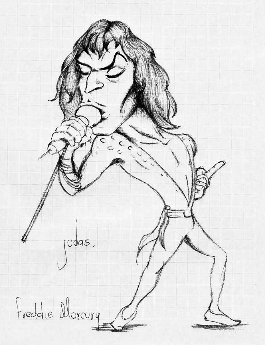 judas caricaturas  freddie mercury por judas