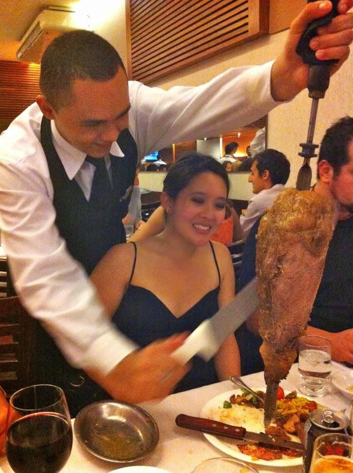 Dinner at Carretao in Rio De Janeiro