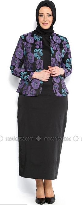 Contoh Baju Batik Muslim Big Size