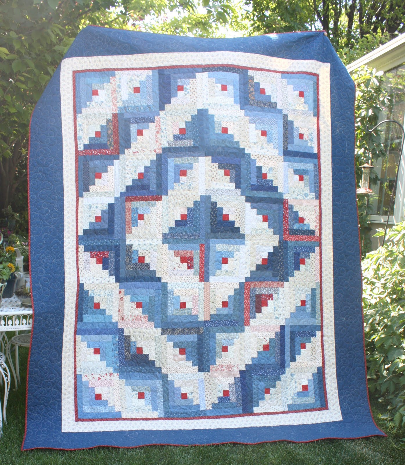 Summer Log Cabin Quilt Moms And Daughters Diary Of A