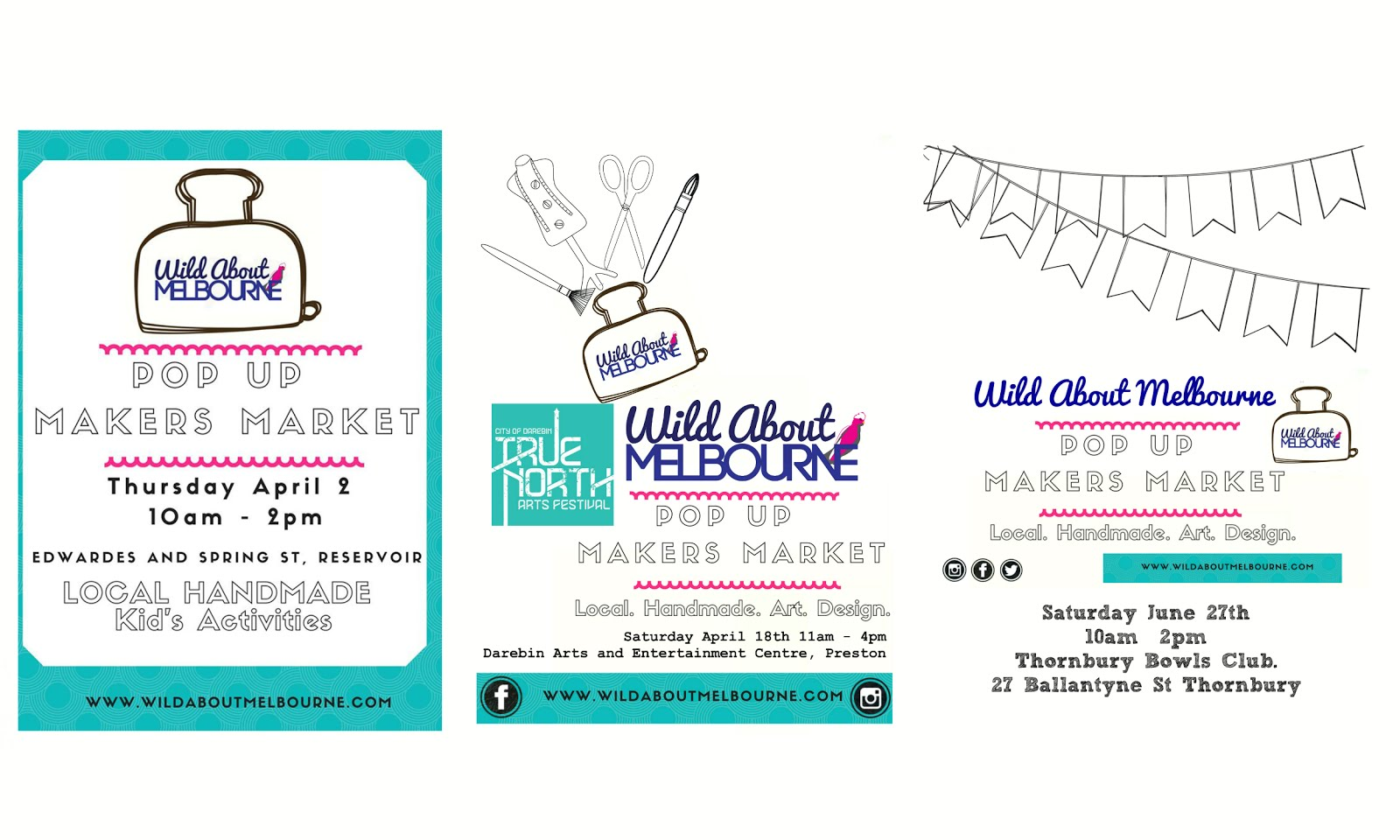 Wild About Melbourne Pop Up Makers Market