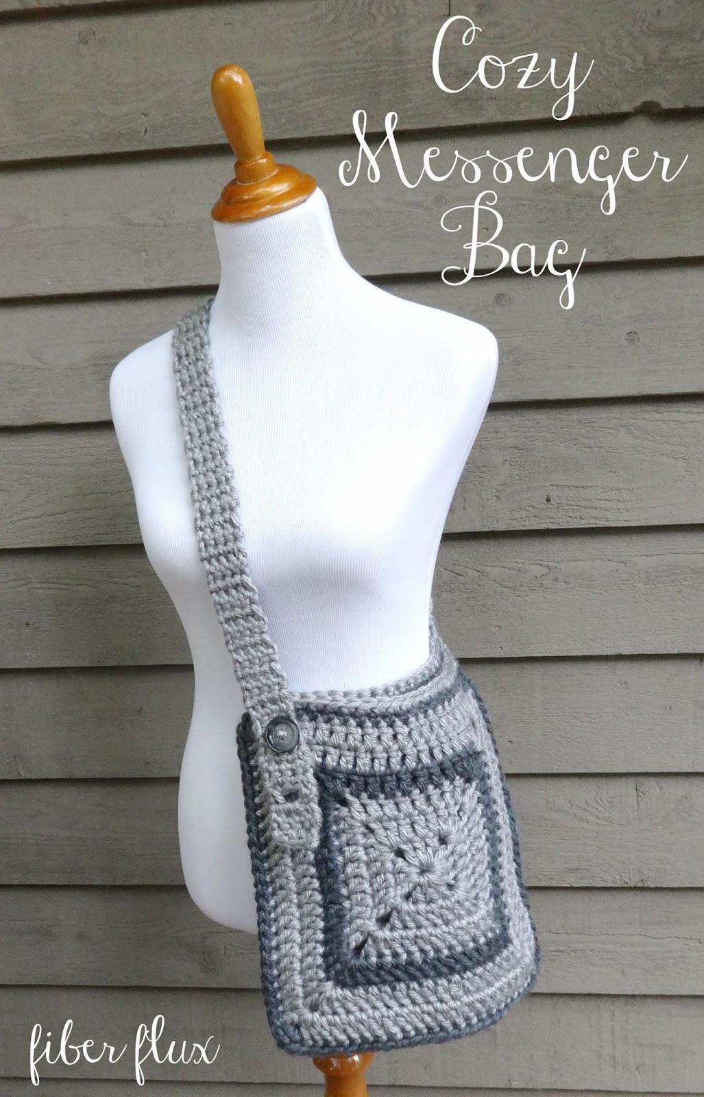 Fiber Flux: Free Crochet Pattern...Cozy Messenger Bag!