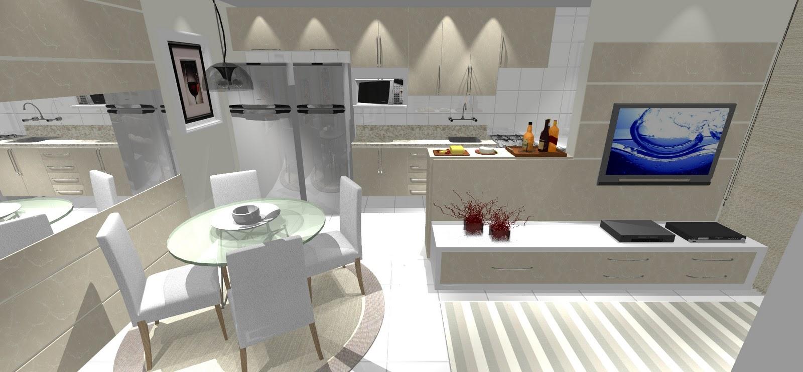 Cozinha Com Balco E Sala De Jantar Cozinha Planejada Pequena Ue  -> Divisor Sala E Cozinha