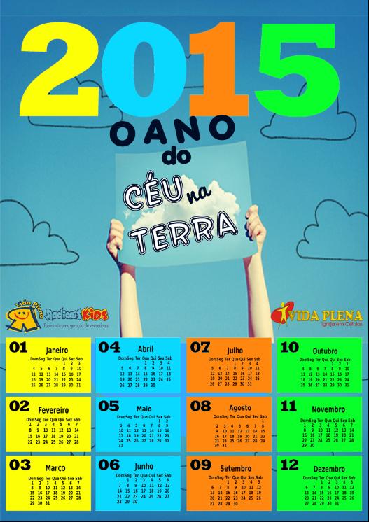 Calendário KIDS 2015
