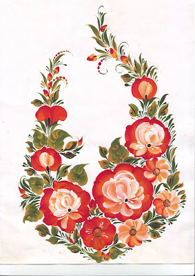Clip art The Flowers Roses in Russian style Instant Download