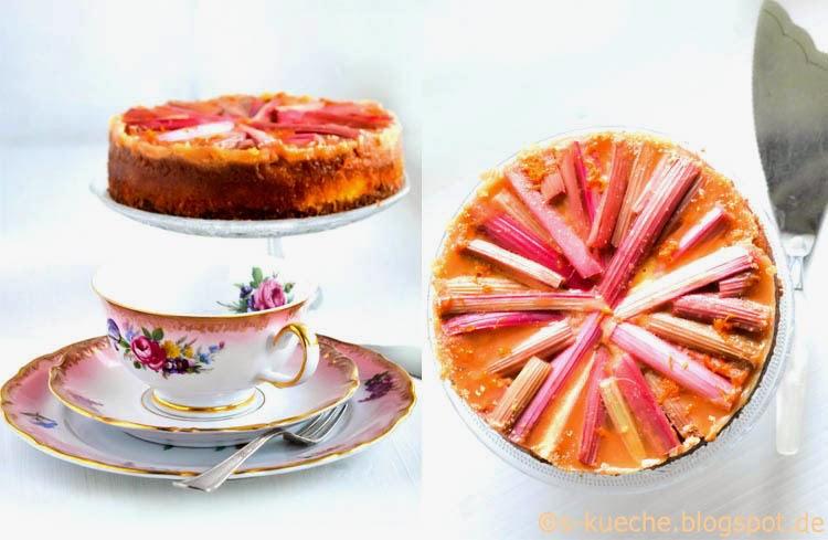 Rhabarber-Orangen Grießkuchen S-Küche