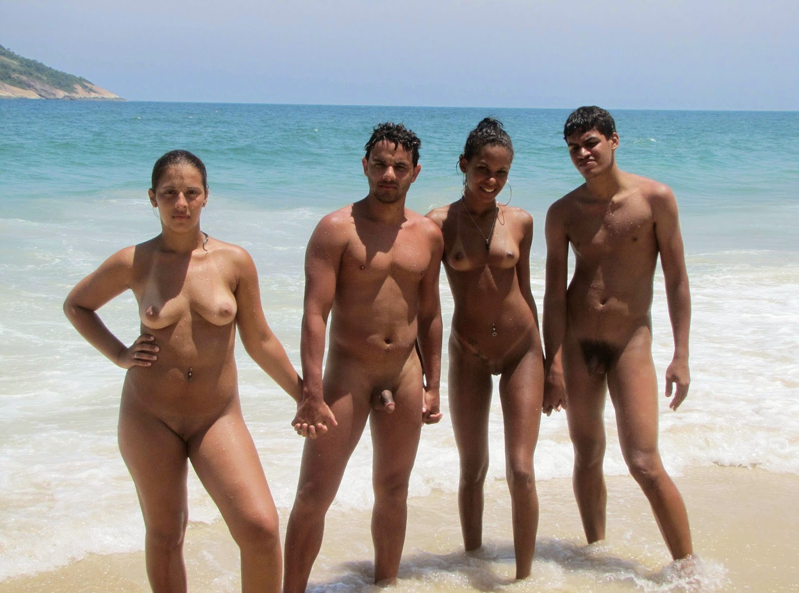 naked on brazil beach