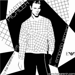 Martin Pichler by Kai Karenin, vector illustration