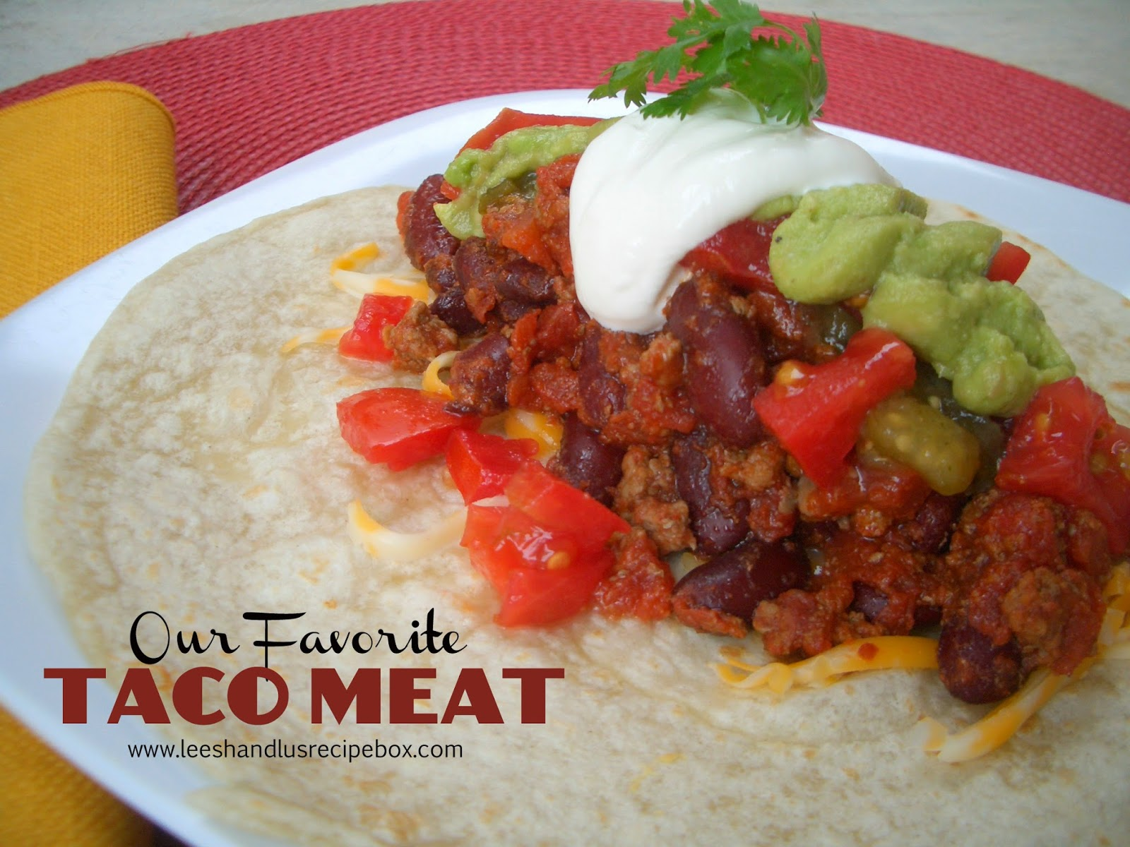 {Our Favorite} Taco Meat | Leesh & Lu's Recipe Box