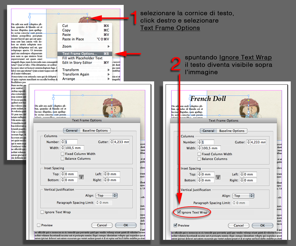 Amb blog indesign testo su immagine quando usare 39 ignore text wrap 39 - Testo la finestra ...