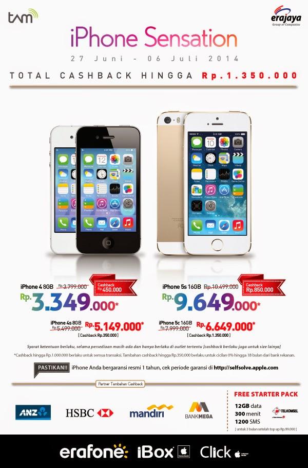 iPhone promo harga mulai Rp 3.349.000 di Erafone