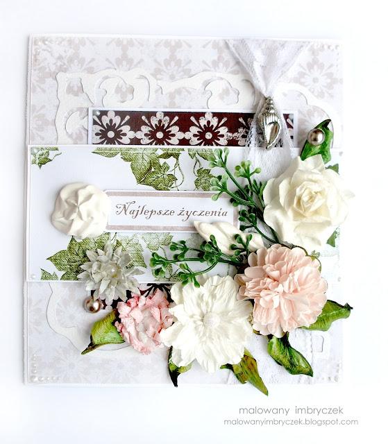 scraobooking-kartka-wesele-ślub-royal-malowany-imbryczek-handmade