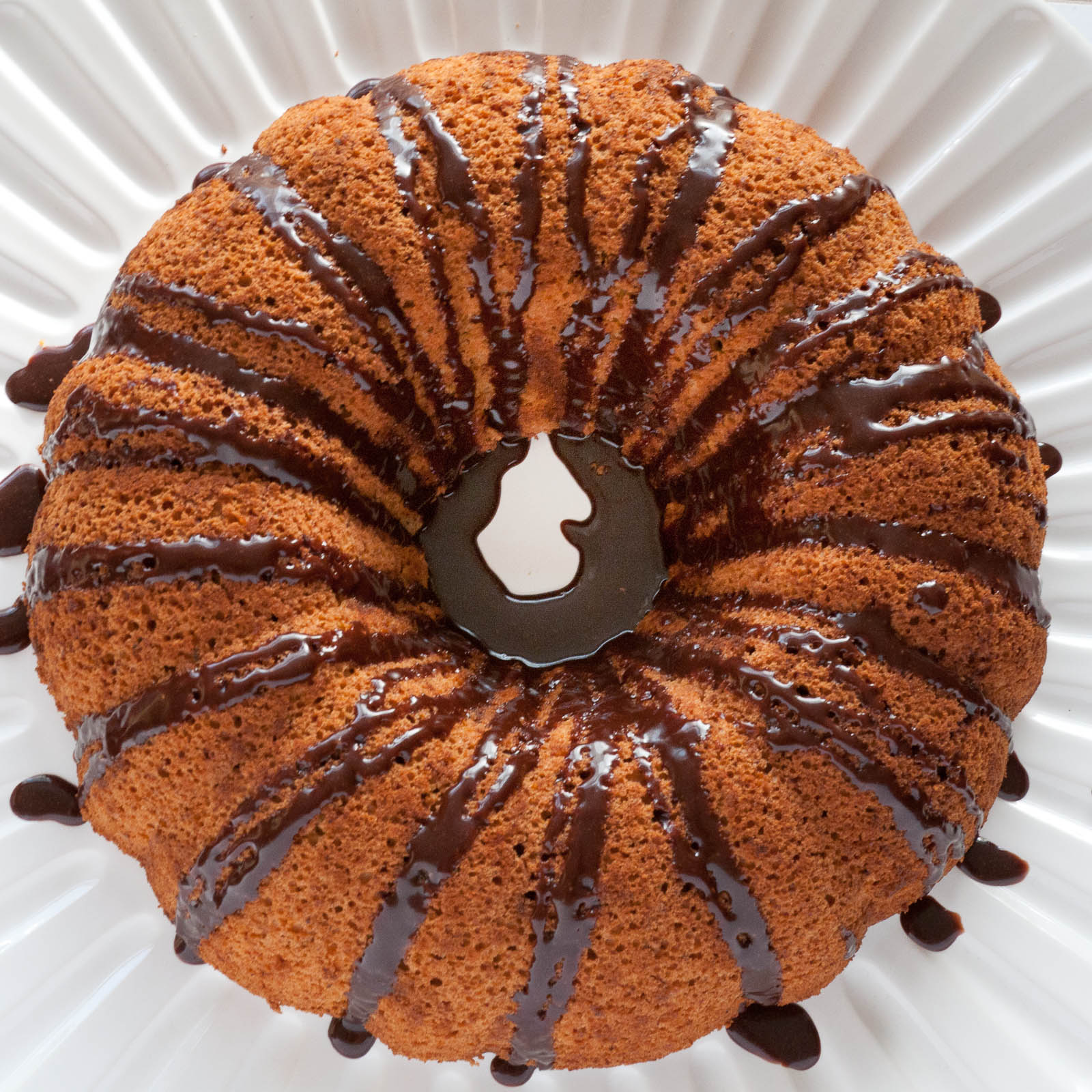 Sweet Twist of Blogging: Pumpkin Angel Food Cake with Dark ...