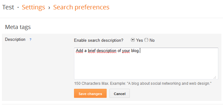 Add Meta Description Tags to Blogger Homepage and Postpages