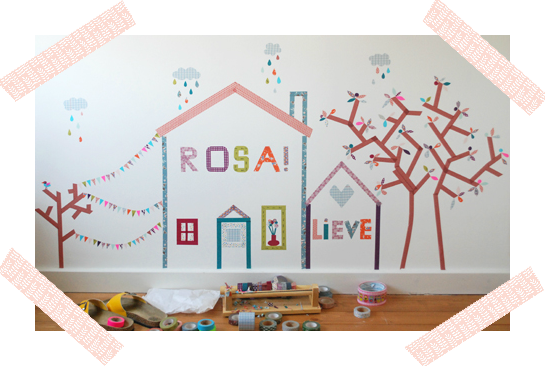 WASHI TAPE CHILD ROOM MURAL / MURAL DE WASHI TAPE PARA HABITACION DE NIÑOS