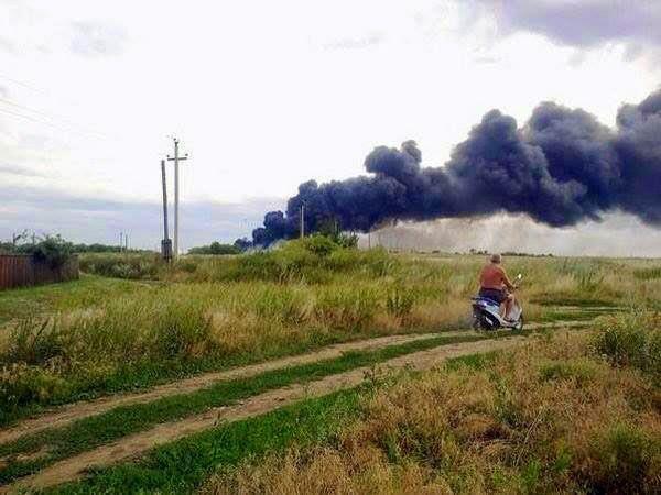Asap pesawat MH17 yang ditembak di Ukraine