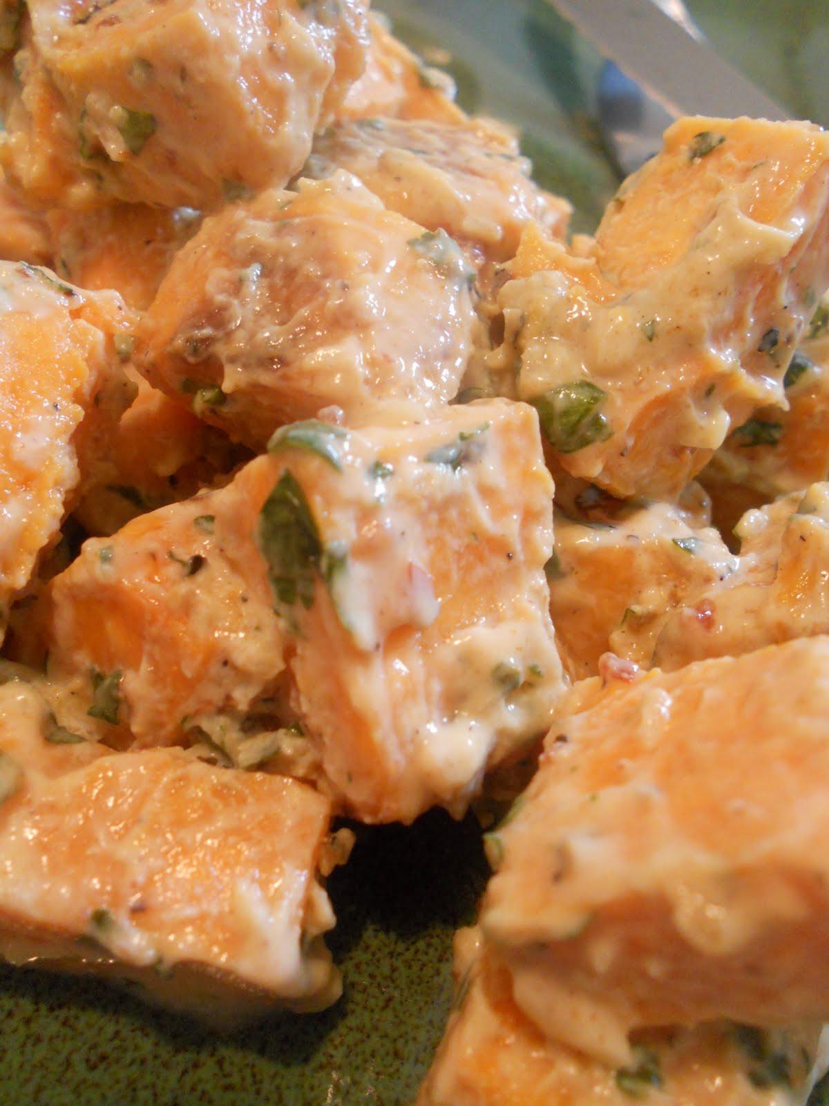 Mirepoix: Spicy Sweet Potato (Potato) Salad