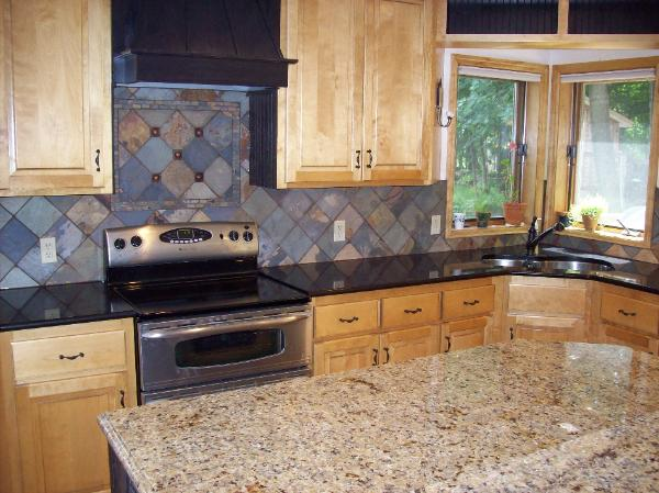 styling home slate stone kitchen backsplash