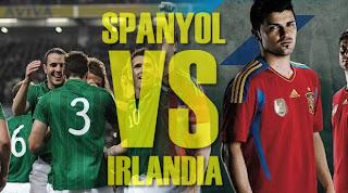Skor akhir spanyol vs irlandia