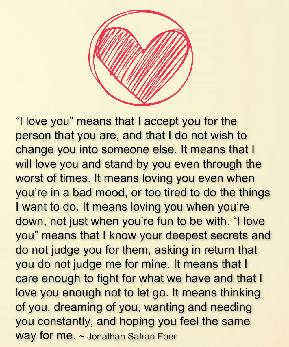 "What I Love About You Quotes Mesmerizing Quotes What ""I Love You"" Means."