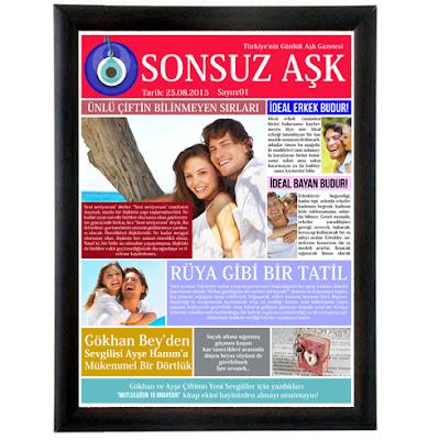 Kişiye Özel Sonsuz Aşk Gazetesi