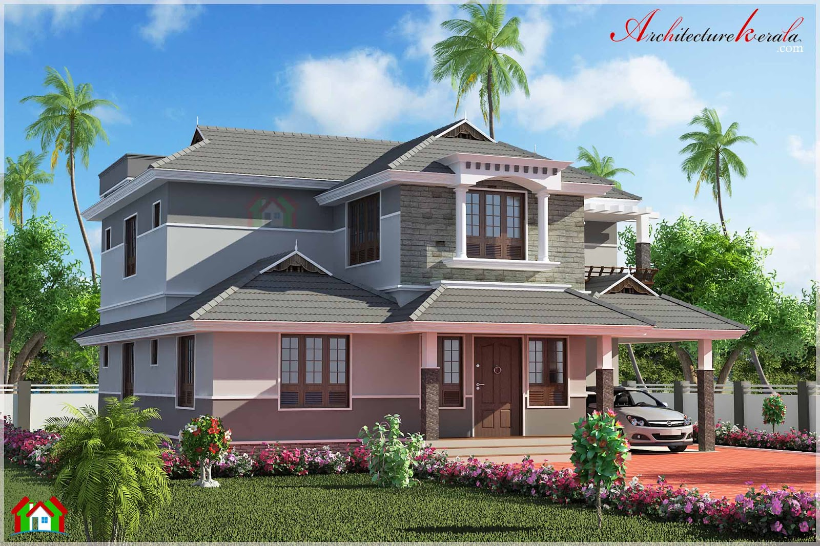 2500 square feet contemporary style elevation for 2500 sq ft house plans in kerala