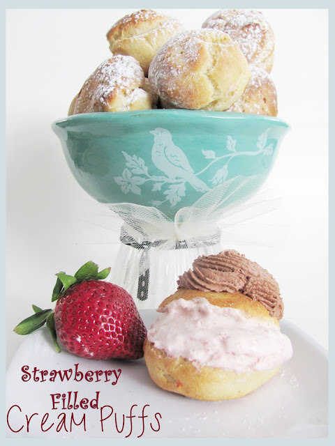 Strawberry Mousse Cream Puffs