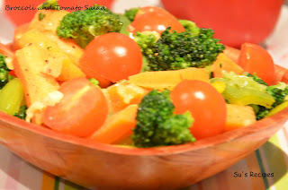 Broccoli and Tomato Salad carrot salad cherry tomatoes peppers