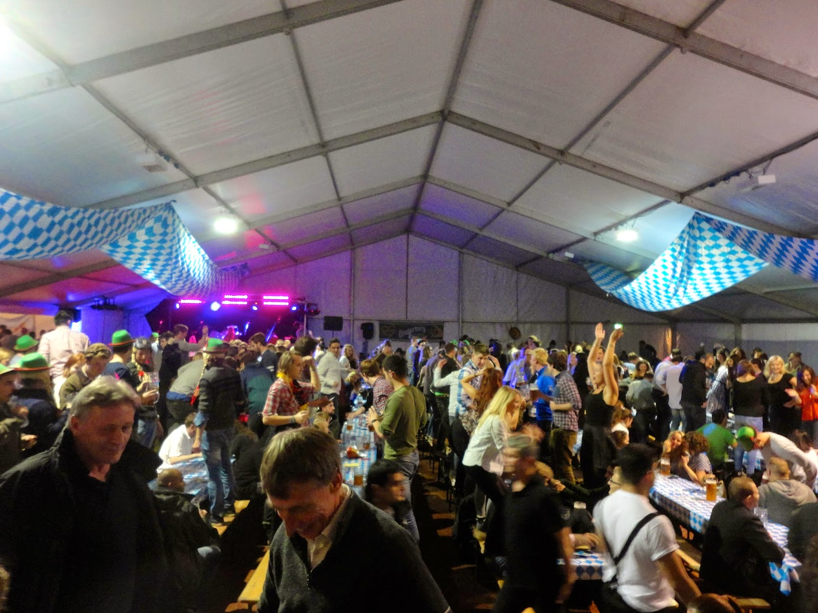 edinburgh oktoberfest beer tent interior