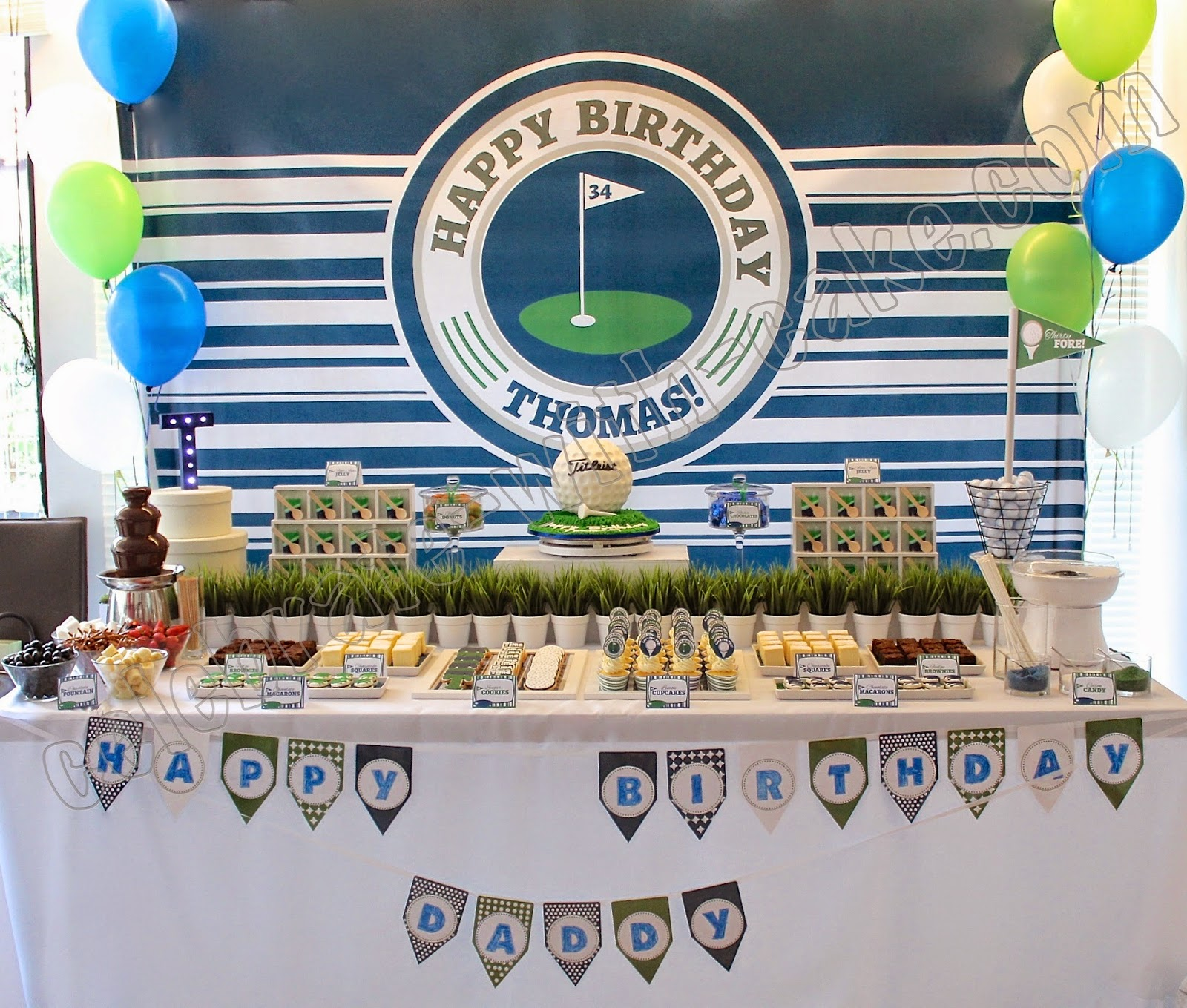 Fabulous Golf Themed Dessert Table Click Post To View More Pictures Download Free Architecture Designs Griteanizatbritishbridgeorg
