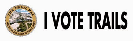 I VOTE TRAILS Bumper Sticker