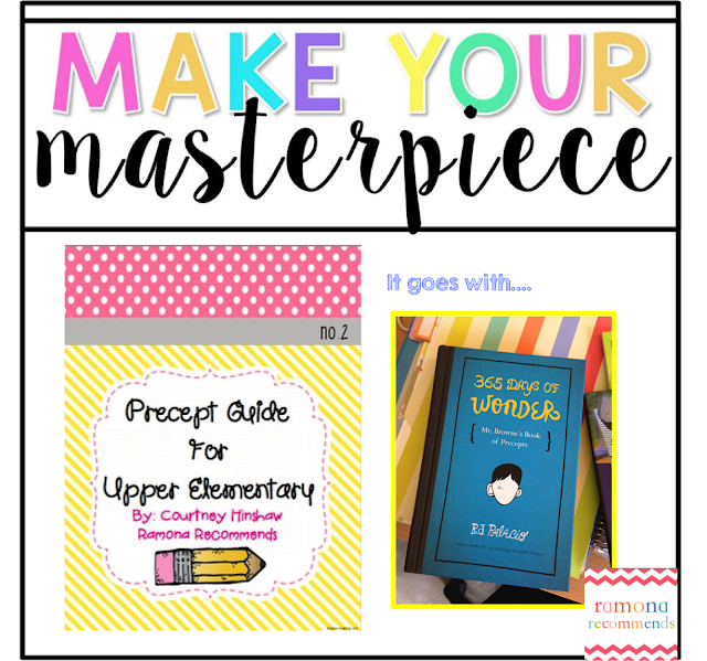 https://www.teacherspayteachers.com/Product/Precept-Writing-Guide-For-Upper-Elementary-use-with-WONDER-1926915