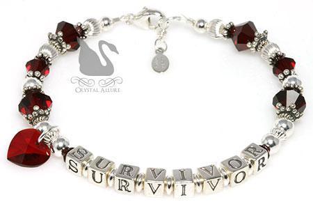 Patricia's Custom Heart Transplant Survivor Bracelet (BA218)