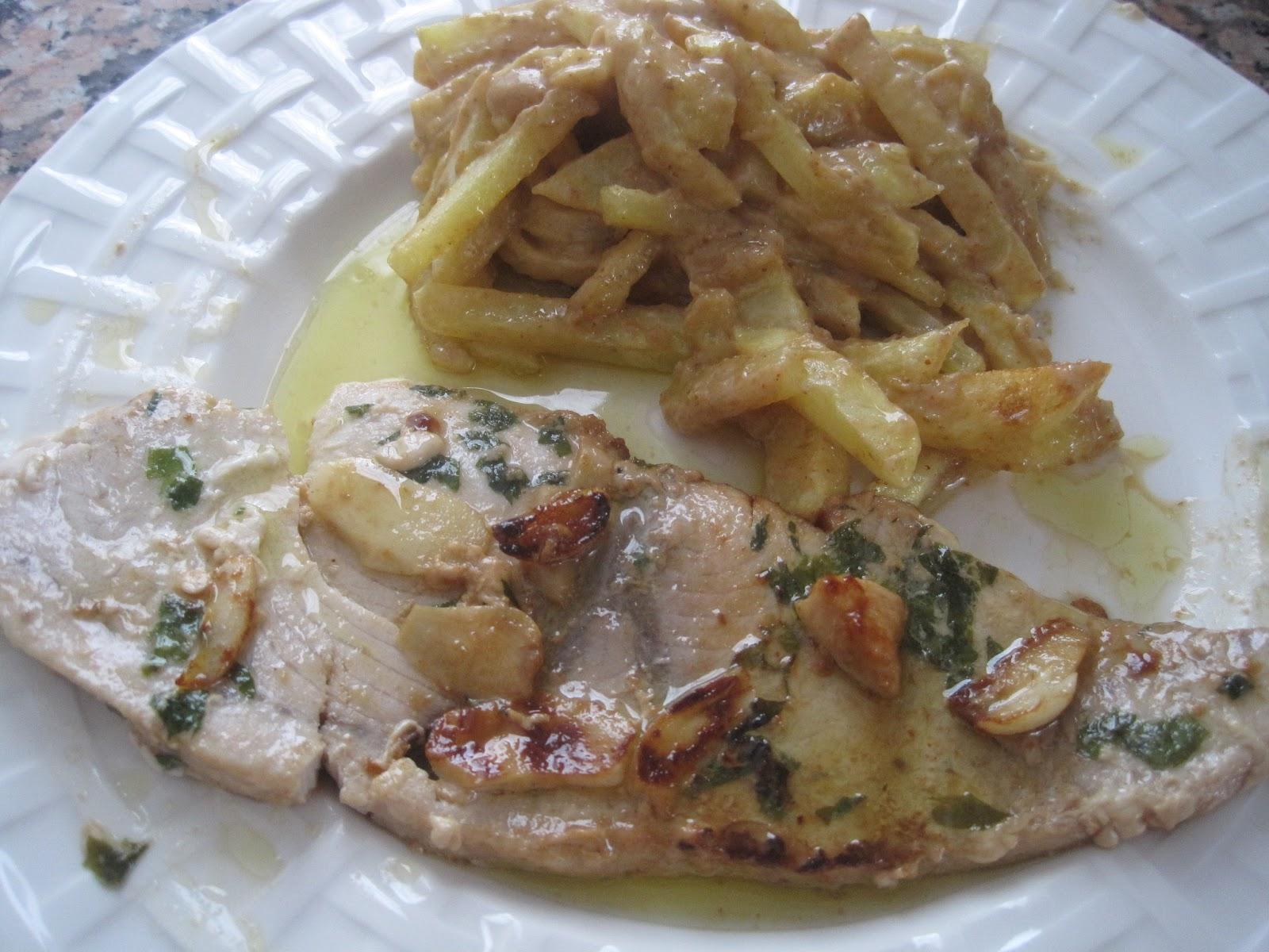 Recetario de anabel pez espada a la plancha for Cocinar pez espada a la plancha