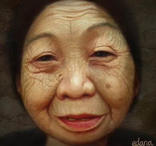 Draw an old woman