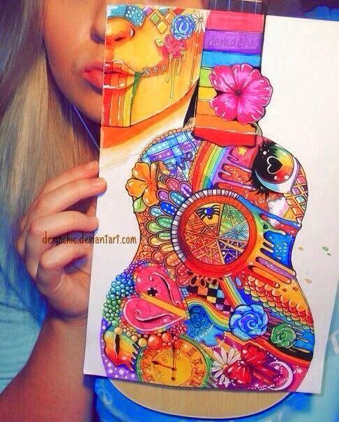 imagem criativa arte - gnvision violao
