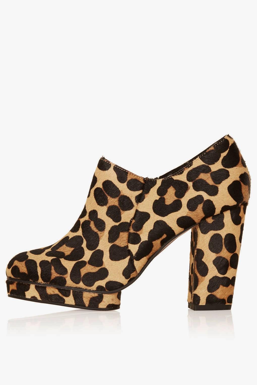 Topshop Sian Leopard Print Shoe Boot