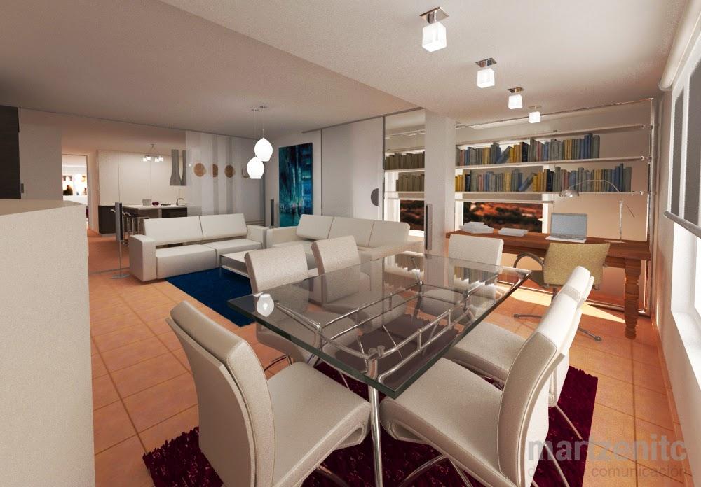 interiorismo loft con cocina invisible martzenitc