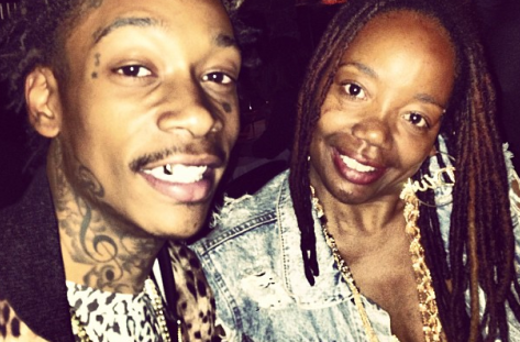 Wiz Khalifa and mom