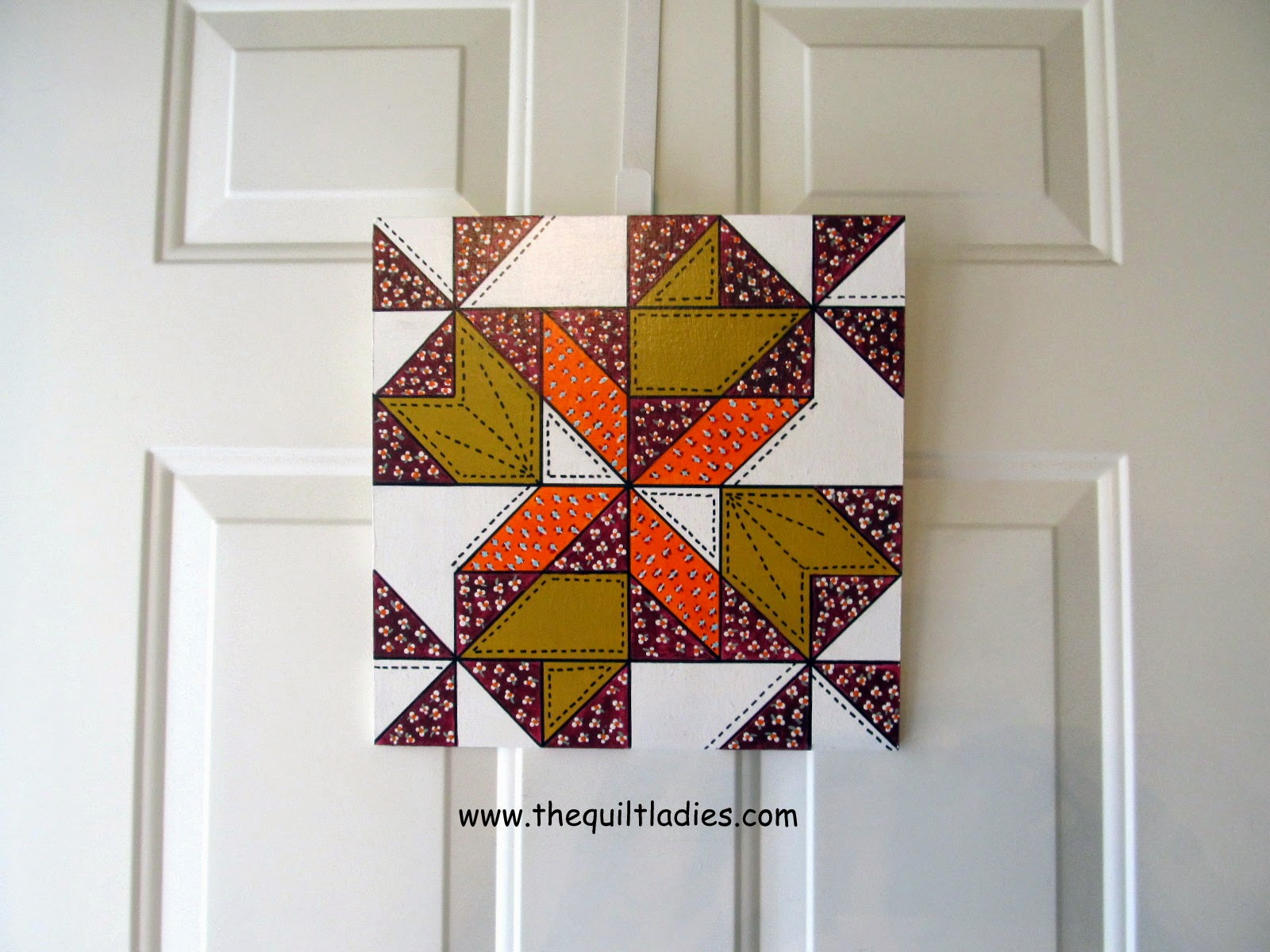 hand painted wood barn quilt