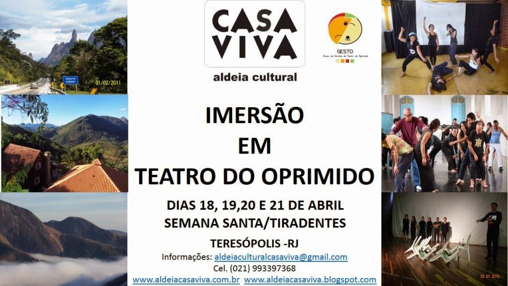 SANTA IMERSÃO-Oficina de Teatro do Oprimido na Aldeia Casa Viva, em Teresópolis
