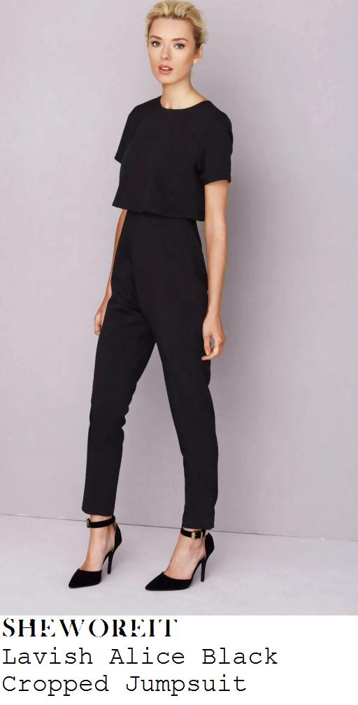 vicky-pattison-black-short-sleeve-overlay-tailored-cropped-jumpsuit-nobu