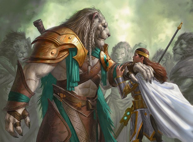 Ajani Goldmane and Elspeth