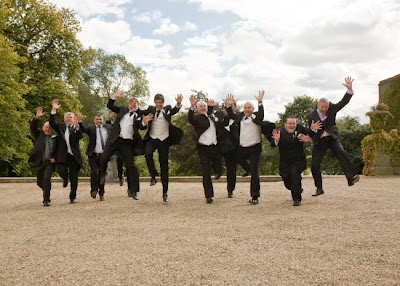 Jumping with joy at Wynyard Hall