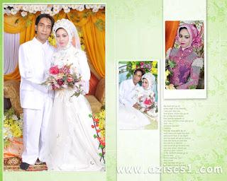 Frame foto untuk 3 gambar wedding