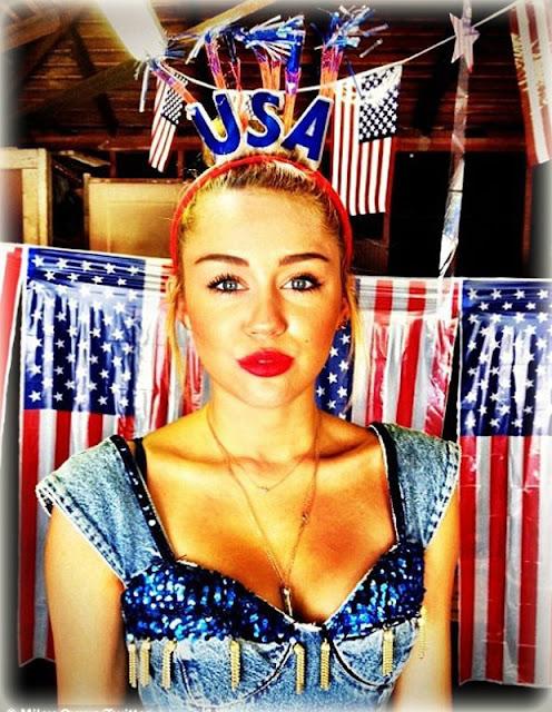 Feliz 4 de julio Miley Cyrus