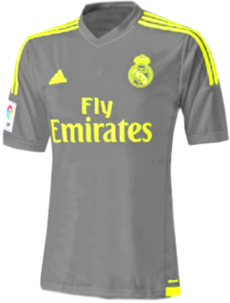 Detail Jersey Away Real madrid 2015