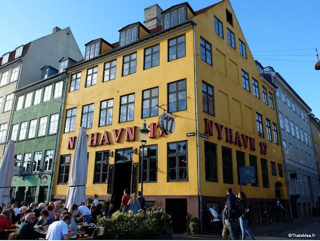 Nyhavn, Nouveau Port Copenhague maison de couleurs canal bateaux amarrés
