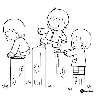 Dibujos de Niños Jugando