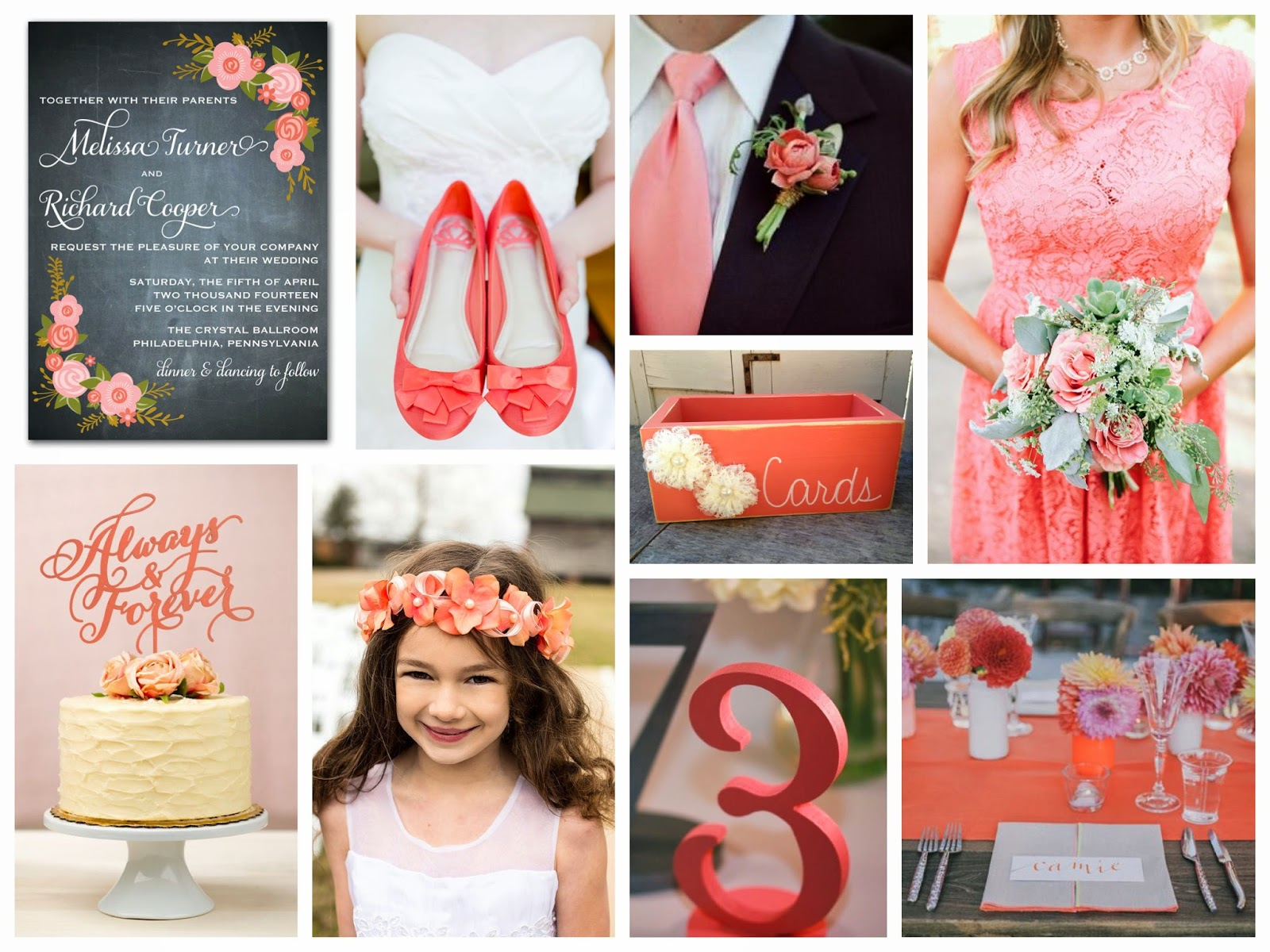 9 Coral Wedding Ideas You're Gonna Love | Designed By M.E. Stationery